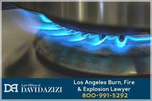 Fire on Stove Burner