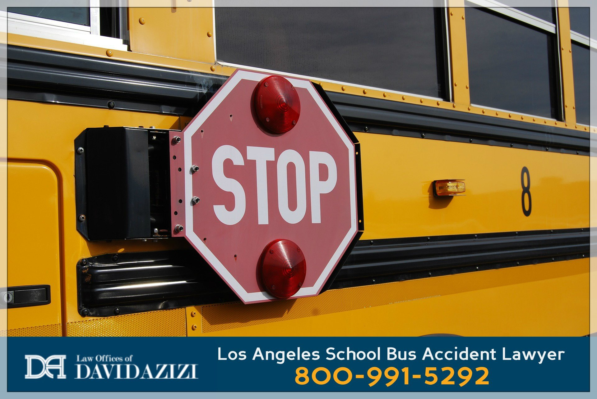 School Bus Stop Sign - Bus Accident Lawyer David Azizi