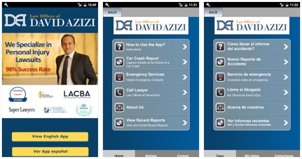 David Azizi Car Accident Phone App Preview