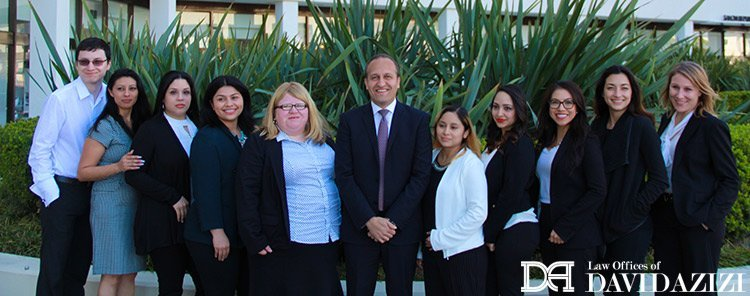 David Azizi Law Firm Team Photo