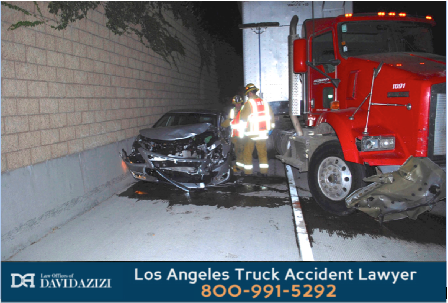 Truck and Car Collision - Law Offices of David Azizi