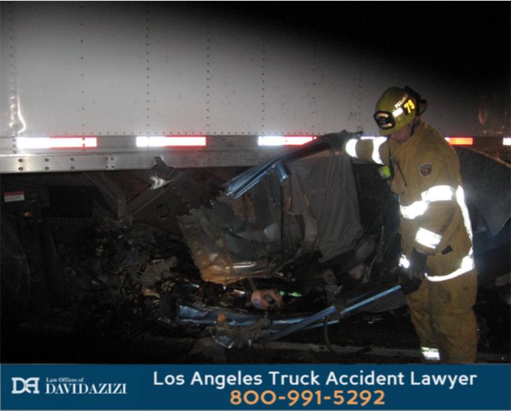 Car Under Truck Accident
