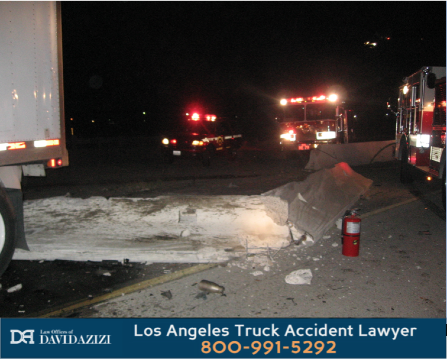 Truck Spill On Freeway - Law Offices of David Azizi