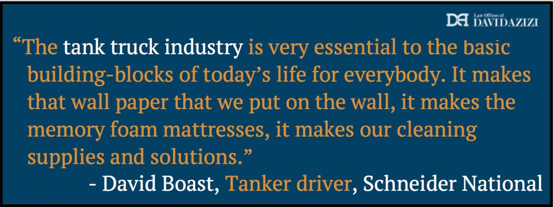 Quote Tanker Truck Accident Law Firm - David Azizi